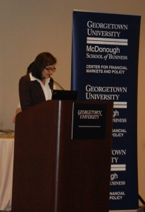 Penny Warga presenting the Arthur Warga Best Paper Award.